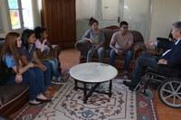 Alunos do Uruguaiana fazem entrevista na Câmara