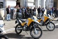 Câmara presente na entrega de motos à Segtram