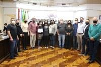 Câmara reconhece medalhista de Olimpíadas Nacional