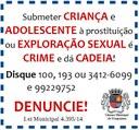 Conscientização sobre crime de exploração sexual de menores é requerida pelo Legislativo