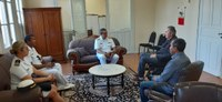 Novo comandante do Distrito Naval visita Câmara