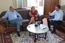 Presidente recebe coordenador de gabinete de Deputado Federal
