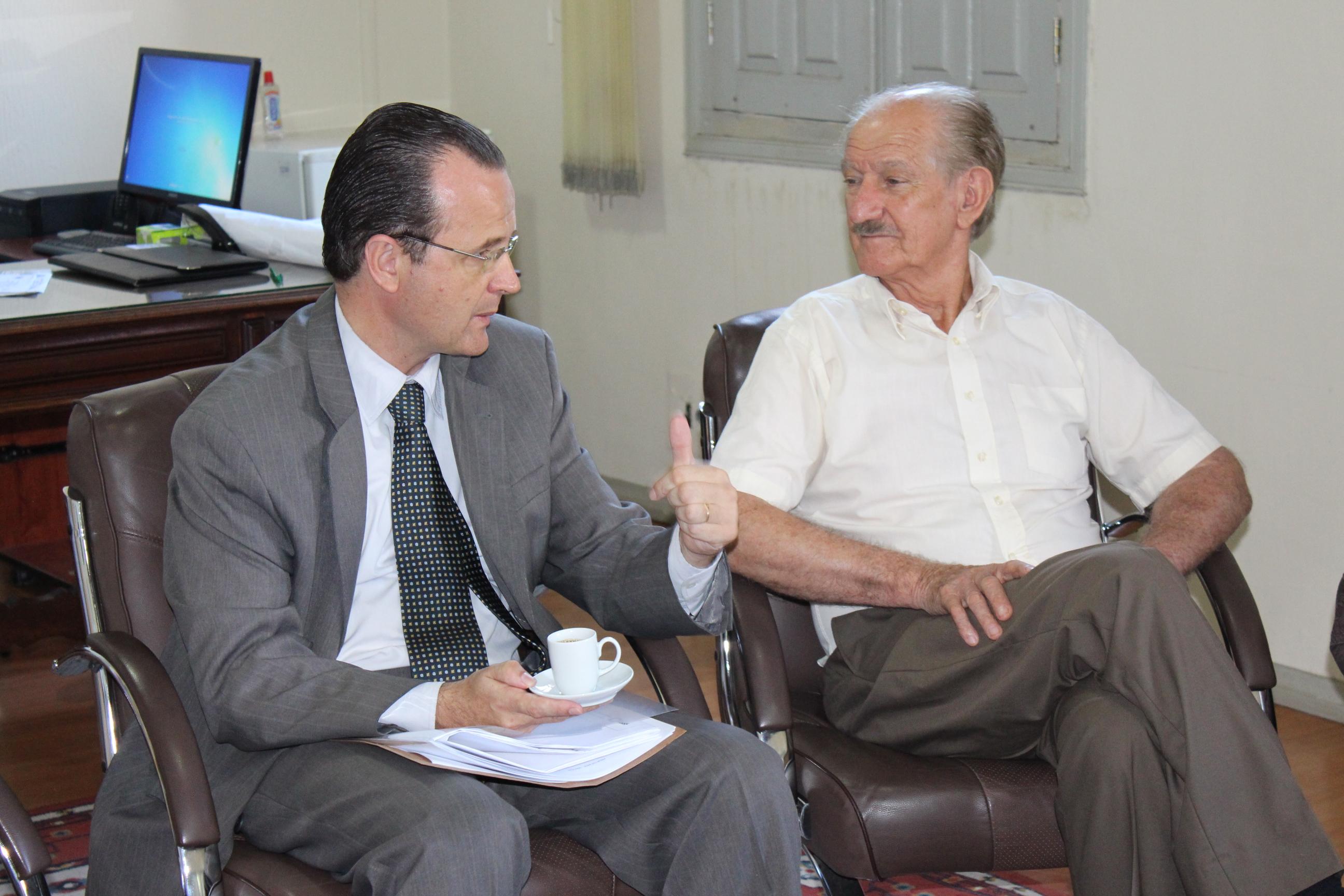 Presidente recebe visita do prefeito
