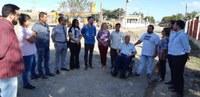 Vereadores visitam obras da João Laptz com prefeito